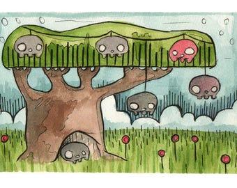 Skull Tree Fine Art Print
