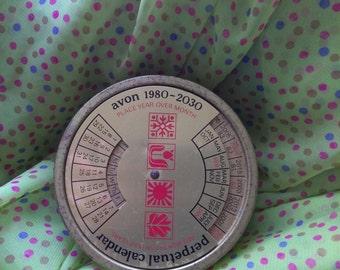 Vintage Avon Perpetual Calendar Soap Dish