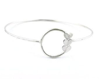 Love Eternity™ Full Circle Bracelet, personalized silver jewelry, custom sterling bangle, statement jewelry, circle jewelry, modern mom gift