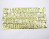 Vintage Gold Embossed Dresden Metallic or Foil Gummed Alphabet Letter Set Package Decorations Crafts in Original Package German Scrap