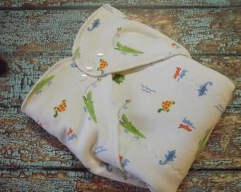 Organic Cotton Winged Prefold Cloth Diaper Later Gator
