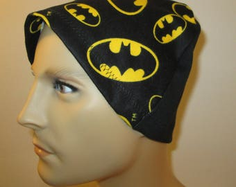 Mens Flannel Batman Chemo Hat Sleep Cap Cancer Cap Keep Bald Heads Warm cj hats