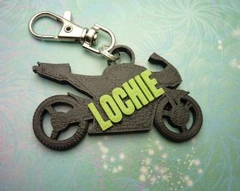 3D Printed Motorbike Key Chain - School Bag Identity Tag