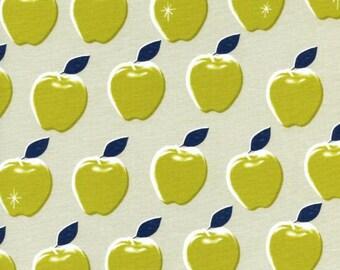 Cotton + Steel Picnic Apples Green - 1/2 Yard