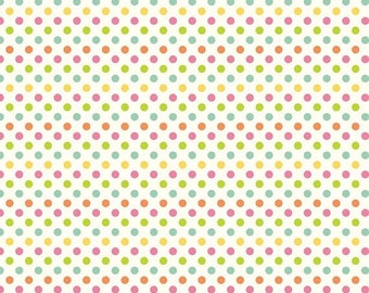 ON SALE Riley Blake Basics Small Multi Dot On Cream