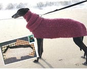 AerieDesigns Quick Easy GREYHOUND Dog SWEATER Crochet Pattern with Snood Digital PDF Download plus Little Dog Sweater
