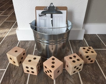 Yard Yahtzee, Yardzee Outdoor Game //Wedding Gift //Wedding Game // Shower Gift // Birthday Gift //Father's Day // Anniversary Gift