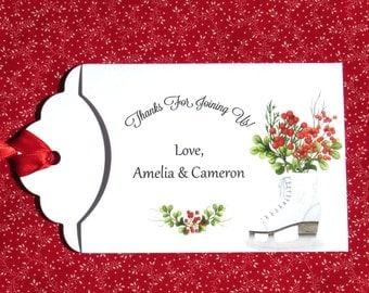 Holiday Wedding Favors   Christmas Wedding    Winter Wedding Favors   Winter Wedding   Holiday Wedding   Wedding Lotto Favors   Ice Skate