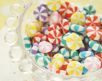 25 pcs Assorted Polymer Clay Marble Candy Miniature /Cabochon (10mm ) CD551