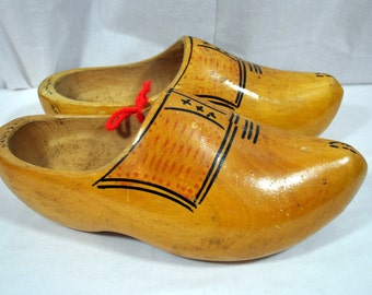 Vintage Wooden Shoes - Hand Made