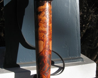 Yggdrasil 2 - - MADE TO ORDER - hand tooled leather quiver - custom design by twistedtreestudio