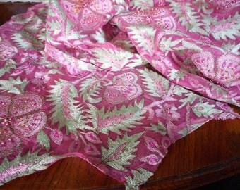 VINTAGE Bead Embroidered & metallic Thread Scrap Dress for Applique Trim Pieces