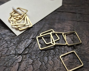 Set of Plain Square Knitting Stitch Markers