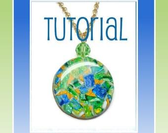 Polymer Clay Tutorial- Faux Gemstone Pendants- Jewelry Tutorial- Technique Tutorials- Beginners Easy Tutorial- DIY