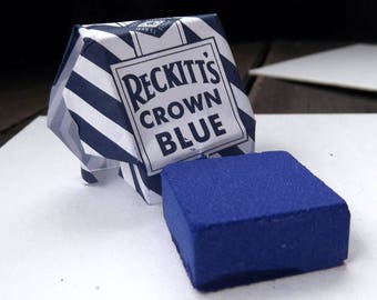 Reckitt's Crown Blue Bluing Square (Cuadrito de Añil) - 5 Squares - Bargain - 5 for the Price of 4 - 1 Dollar Per Piece