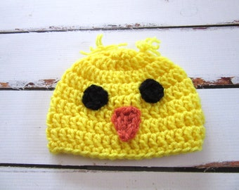 Baby Easter Hat, Newborn Easter Hat, Baby Chicken Hat, Newborn Chicken Hat, Baby Chick Hat, Baby Spring Hat, Farm Animal Hat, Newborn Beanie
