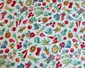 Joan Kessler Fruit Flowers and Vegetables Cotton Print