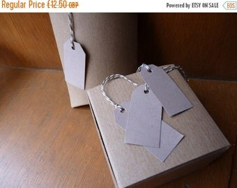 HALF PRICE SALE Set of 100 unstrung buff beige card brown price tags hang tags 2 x 1 inches