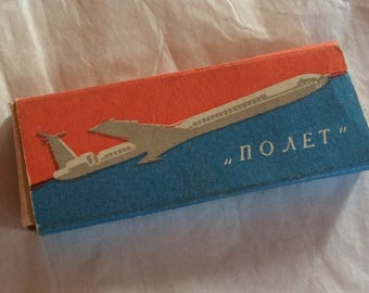 VINTAGE CIGARETTES, TOBACCIANA, collectible, Airline, Russian, prop, display