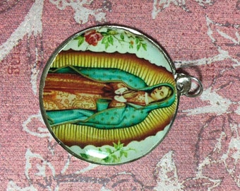 Our Lady of Guadalupe Large Round Medal