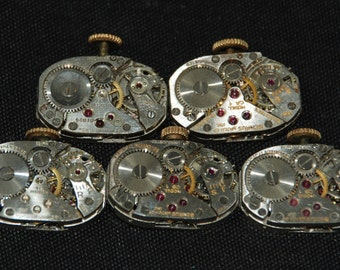 Vintage Watch Movements Parts Steampunk Altered Art Assemblage R 91