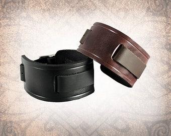 Classic Plain - Leather Watch Cuff, Watch Strap, Watch Band, Black Watch Cuff, Men's Watch Cuff, Brown Watch Cuff (1 Watch Cuff Only)