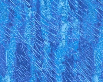 Blue Crayon Scribbles Very Hungry Caterpillar Andover Fabric 1 yard