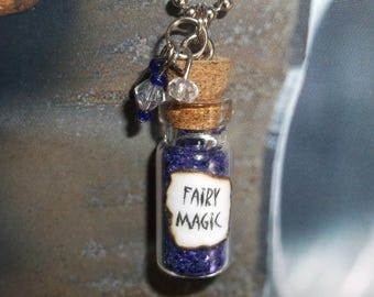 Fairy Magic / Miniature Glass Bottle Necklace / No.01