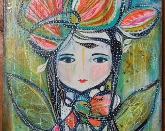 Spirit Warrior of New Beginnings Original Painting
