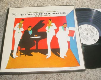 LP Record Promo box set Jazz Odyssey volume 1 the sound of New Orleans 1917-1947