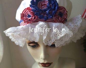 mob cap patriotic costume 1776 hat colonial mob cap