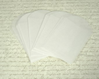 Glassine Envelopes Set of 50   2.75 x 3.75