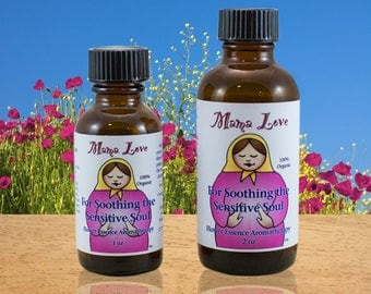 Soothing Sensitivity Flower Essence Aromatherapy Oil, Organic, Reiki-Infused, Bach Flower, for Anxiety, Depression, Empaths, Addictions