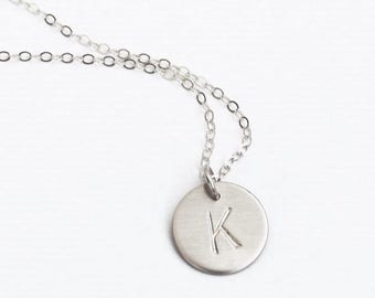 Silver Initial Necklace, Personalized Necklace, 1, 2 or 3 Initial Necklace, Silver Necklace, Everyday Necklace, Personalized Jewelry