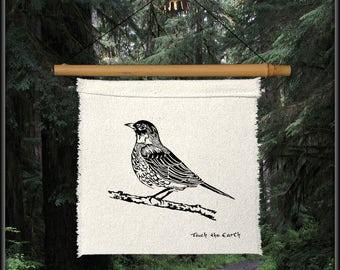 robin redbreast-spring bird-bird decor-bird gift-robin prayer flag-bird prayer flag-garden bird-spring decor-red robin-bird lover gift-robin