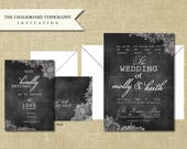 Reserved for ajcash83 - Chalkboard Lace Invitation