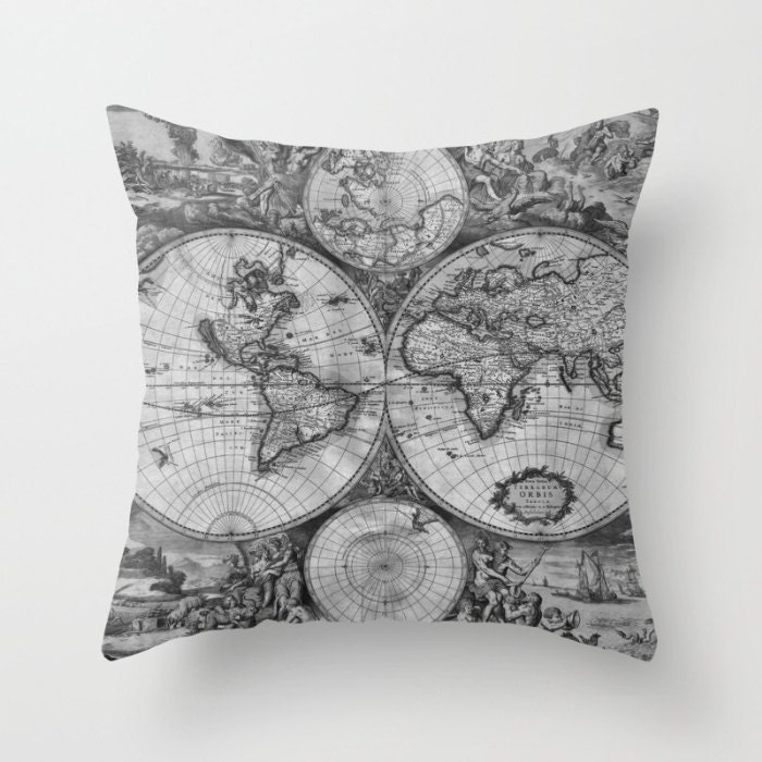 Old world map duvet cover vintage world map bedding map 1 gumiabroncs Gallery