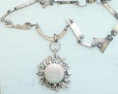 Prelude One of a Kind Necklace, Sterling Silver, Fine Silver, Savannah Jasper