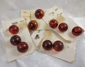 Vintage Marbled Rootbeer Lucite Buttons