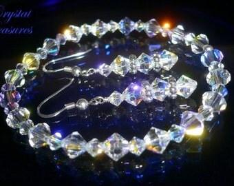 Crystal Swarovski Element AB Aurora Borealis Bracel Set