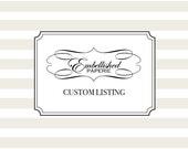 Custom Listing for Sheila