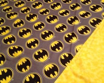Swaddling Batman blanket