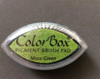Moss Green Color Box Pigment Brush Pad