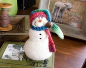 Needle Felt Snowman - Needle Felted Snowman - Christmas Snowman - Christmas Decoration - Christmas Decor -  Wool Snowman - Winter Décor -842