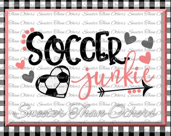 Soccer SVG love soccer My Heart is on that Field SVG DXF Files Soccer Junkie Svg, soccer shirt, Silhouette, Cameo, Cricut, Instant Download