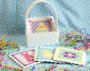 PATTERN: Easter Coasters in Plastic Canvas