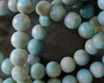 24 8mm Natural Amazonite Beads