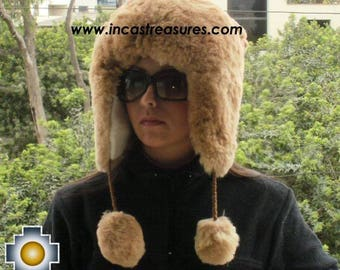 100% Baby Alpaca fur hat earflaps Chullo - FREE SHIPPING Worldwide
