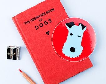 Winking Dog Sticker, Terrier Sticker, Cute Dog Sticker, Cute Stickers, Laptop Stickers