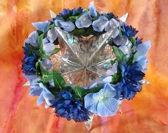 Doll Flower Crown 18 Inch Doll Flower Crown AG Doll Blue Flower Crown Am Girl Doll Flower Crown AG Doll Flower Crown Blue Flower Doll Crown
